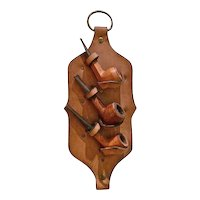 Hanging Leather Pipe Rack