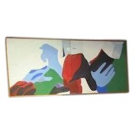 60's Abstract Oil Painting