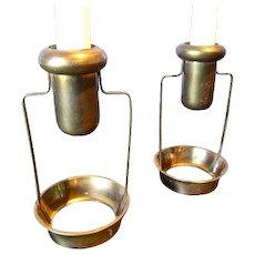 Pair of Swedish Brass Candlesticks