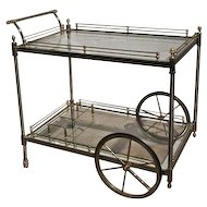 Steel and Brass Barcart