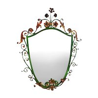 Italianate Iron/Gilt mirror