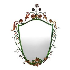 Italianate Iron/Gilt mirror