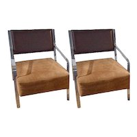 Modernist Italian Lounge Chair-Pair