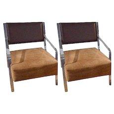 Modernist Italian Lounge Chair-Pair