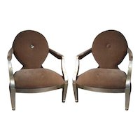 The DONGHIA chair by Angelo Dongia- Pair