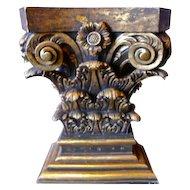 Ornate Gilded Column Hallway Table