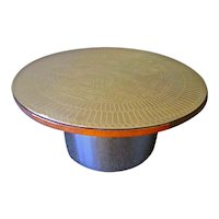"The ""Stamped Brass"" Cocktail Table"