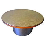 """The """"Stamped Brass"""" Cocktail Table"""