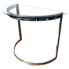 """The """"DEMI LUNE' table by Milo Baughman"""