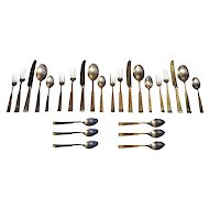 Modernist Solid Silver Place Settings for 4 & 6 Spoon