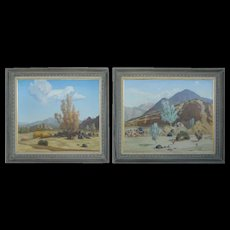 Set of Two Paintings by R. Brownell McGrew, Signed