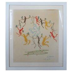 """Pablo Picasso """"La Ronde de la Paix"""" Lithograph"""