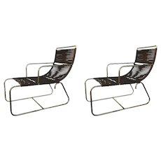 Pair of Walter Lamb Sleigh Chairs