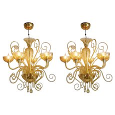 Pair of Italian Chandeliers