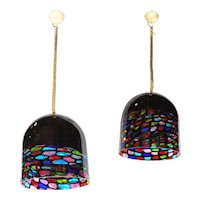 Pair of Glass Pendants by Leucos