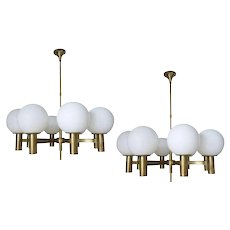 Great Pair of Sergio Mazza Chandeliers