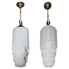 Fine Pair of Art Deco Pendants