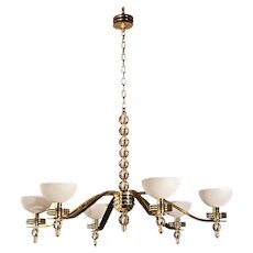 Large Art Deco Chandelier by Bryan Cox