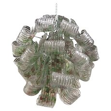Green and Purple Murano Chandelier