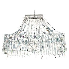 Extra Large Blown Glass Chandelier by Diane Casteja
