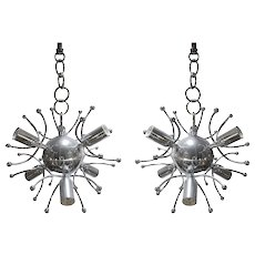 Charming Pair of Sciolari Chandeliers