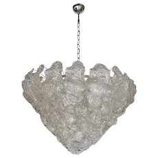 Medium Sized Mazzega Bent Leaves Cake Chandelier