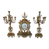 French 19th Century Clock Set