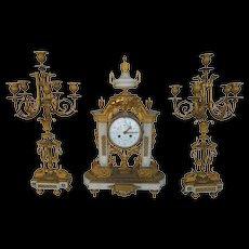 French 19th Century Clock Set