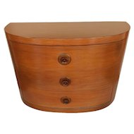 American Walnut and Oak Commode in the Style of Gilbert Rohde