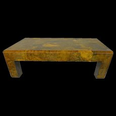 Parchment Coffee Table In the Style of Karl Springer