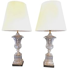 Pair of Baccarat Table Lamps