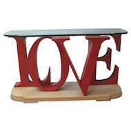 Vintage LOVE console table