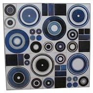 Inge Lise Koefoed signed 1960's Glazed Ceramic Tile wall hanging or table top!