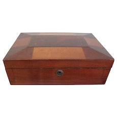 Antique Mahogany Inlaid Box