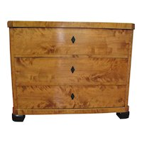 19th Century Biedermeier Three Drawer Chest