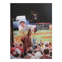 A day at the Dodgers Game by American Illustrator Earl Mayan (New York 1916-2009)