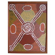 Billy Stockman Tjapaltjarri 'Men's Initiation Ceremony' acrylic on canvas, signed with artist photo and cert!