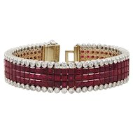 Van Cleef & Arpels Diamond Mystery-Set Ruby Bracelet