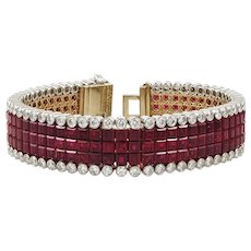 Van Cleef & Arpels Diamond Mystery-Set Ruby Bracelet