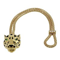 CARTIER Tsavorite and Onyx Panther Bracelet