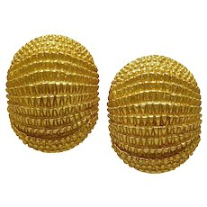David Webb Gold Earclips