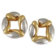 Bulgari Two Tone Earrings