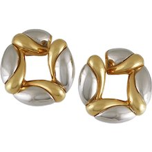 Bulgari Two Tone Earrings