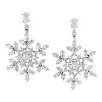 HARRY WINSTON Diamond 'Snowflakes' Earrings