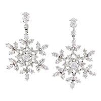 HARRY WINSTON Diamond 'Snowflakes' Earrings
