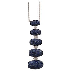 Sapphire & Diamond Necklace by De Grisogono