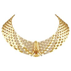 Cartier Diamond Eagle Necklace
