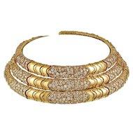 BULGARI Diamond 3 pcs. Choker Necklace