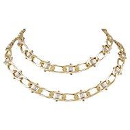 BOUCHERON Diamond and Cabochon Sapphire Necklace