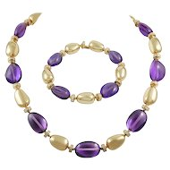 BULGARI Diamond and Amethyst Necklace Suite